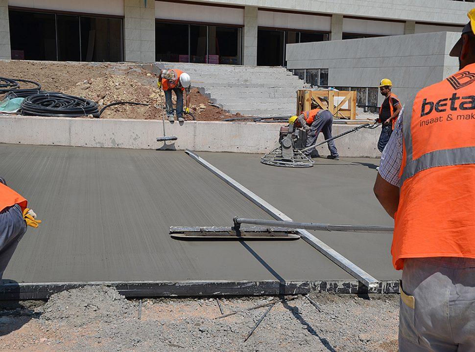 betaş zemin çimento uygulaması