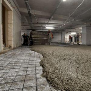 şap betonu atma